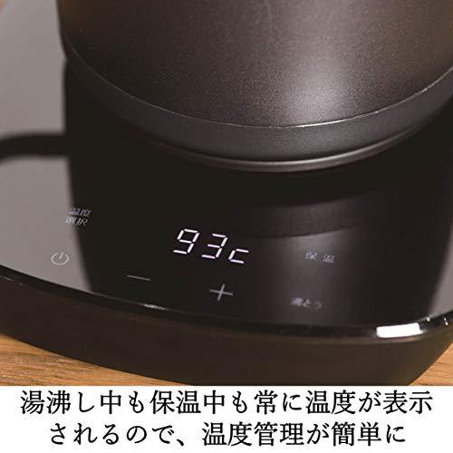 [山善] 電気ケトル 電気ポット 0.8L (温度設定機能/保温機能/空焚き防止機能) ブラック YKG-C800-E(B) [メーカー保証1年]