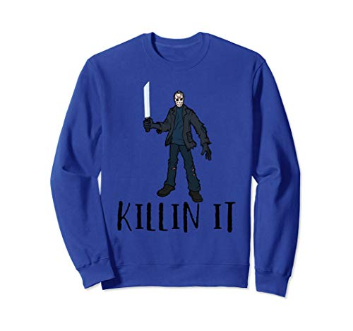 Killin It Halloween Freitag 13. Hockey-Spieler-Maske Kostüm Sweatshirt