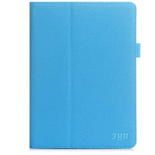 FYY Hülle kompatibel mit Samsung Galaxy Tab S2 9.7,Galaxy Tab S2 9.7 Schutzhülle,Samsung S2 9.7 Leder Tasche mit Multi-Winkel Betrachtungs + Auto Sleep/Wake + Handschlaufe + Bildschirmschutzfolie-Blau