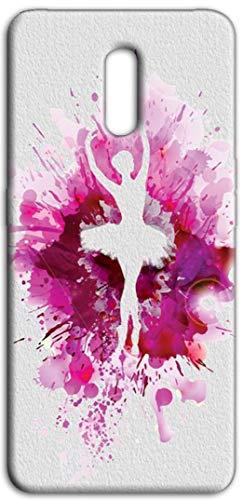 Mixroom Z422 Schutzhülle aus weichem TPU für Oppo Reno Fantasie Ballerina Skizzen Fuchsia