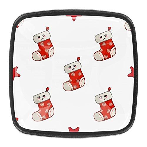 4 pomos para armarios de cocina de 3,8 cm con tornillos para cocina, aparador, armario, baño, armario, color rojo