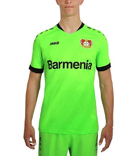 JAKO Kinder Home, (Saison 19/20) Bayer 04 Leverkusen Tw Trikot, neongrün, 152