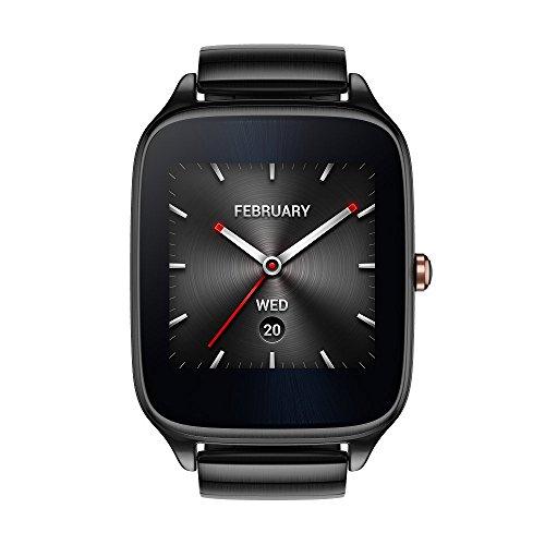 Asus Zenwatch 2 WI501Q-2MGRY0001 (4,1 cm (1,63 Zoll), Qualcomm Snapdragon, 320 x 320 pixels, Android, Amoled, 4GB, Metallarmband) titangrau