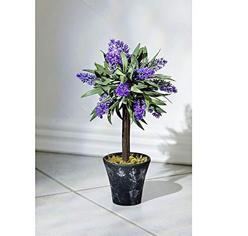 Deko Lavendel im Topf, Kunstpflanze 28cm...