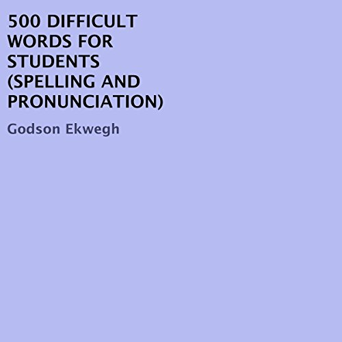 500 Difficult Words for Students audiobook cover art