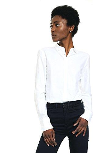 Tommy Hilfiger Damen Katherine Jacquard Shirt LS W2 Hemd, Dobby-Dobby-Dot/Weiß, 34