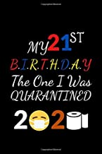 MY 21ST BIRTHDAY THE ONE WHERE I WAS QUARANTINED: Lined Notebook/Funny journal Gift,120 Pages,6*9 Inshes,Soft Cover,Matt Finish