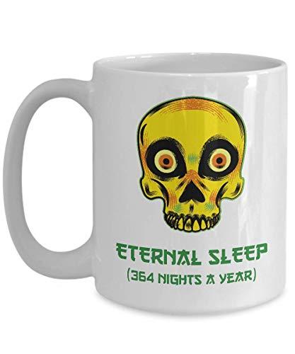 N\A Cabeza de cráneo Humano Taza de café de Halloween Hocus Pocus Tema de Terror Aterrador mercancía de Monstruos clásicos universales, Taza de cerámica de otoño Adicto gótico Espeluznante