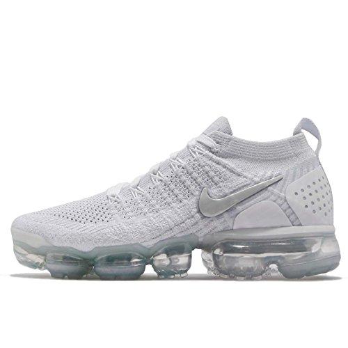Nike Men's Air Vapormax Flyknit 2 White 942843-105 (Size: 5)