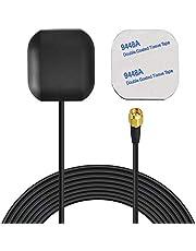 Bingfu Antena de Navegación GPS Activa Impermeable para Vehículo con Conector Macho SMA para Unidad Principal Estéreo de Coche Localizador Rastreador GPS de Barco Marino Camión