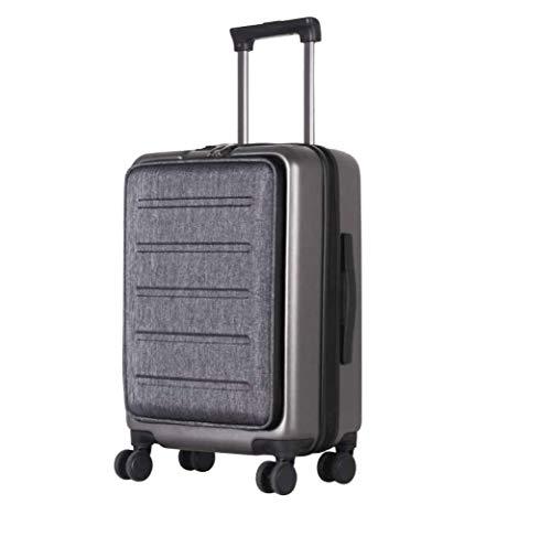 Pure Koffer Ben 55,5 x 37,5 x 25 cm - Kleiner Trolley Mit 4 Rollen & Powerbank - Hartschalen-Koffer Mit 49 Litern Volumen - Größe S - Schwarz