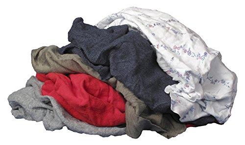 Buffalo Industries (10085PB) Recycled Multicolored T-Shirt Cloth Rags - 50 lb. bag