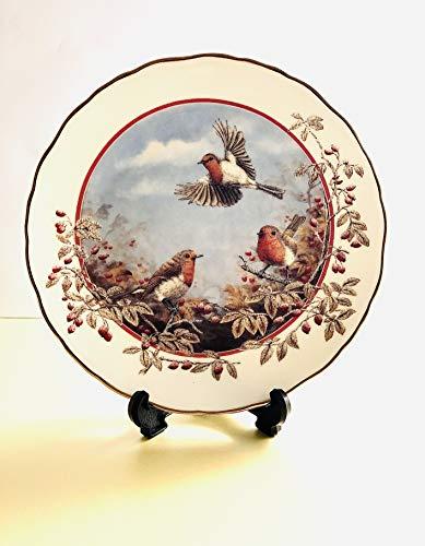 Royal Doulton Deko Teller–Ein Delight von Robins von Mark Chester in die Jahreszeiten der Hedgerow Collection–Bradex 26-r62–103,4