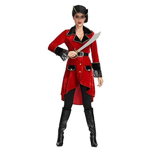 Cosplay novedoso Novela de la serie de Cosplay Sra de Halloween traje adulto de Cosplay del pirata Traje de pirata del Caribe Cosplay del juego Uniforme Disfraz de Halloween ( Color : A , Size : M )