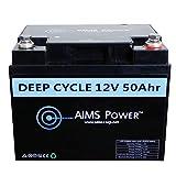 AIMS Power LFP12V50A Black 50 Ah 12V Lithium Battery 50Ah