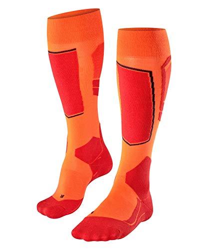 Falke SK4, Calzini da sci Uomo, Lana Merino, Arancione (Flash Orange 8034), 42-43, 1 Paio