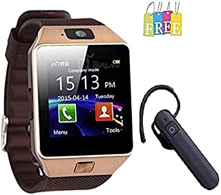 Devsadan DZ09 Smart Watch Bluetooth Smartwatch Compatible with All Mobile Phones for Boys and Girls & Get a Free Bluetooth (Golden & Black)