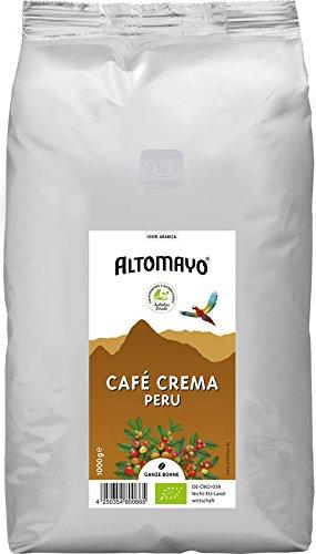 Altomayo BIO Café Crema Bohnen im Beutel - Bio - 1000g
