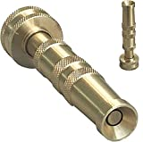 High Pressure Hose Nozzle Heavy Duty | Brass Water Hose Nozzles for Garden Hoses | Adjustable Function | Fits Standard Hoses, Garden Sprayer, Spray Nozzle, Power Washer Nozzle