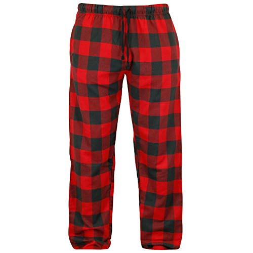 Mossy Oak Herren Buffalo Plaid Flannel Pajama Lounge Pants with Pockets Relaxed, Rotes Büffel, XX-Large