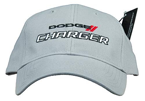 Dodge Charger Hat Embroidered Cap, Grey