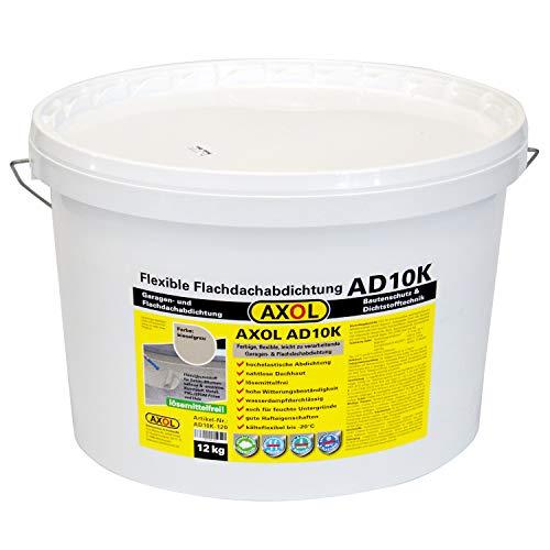 (€ 11,58/kg) Garagendach abdichten DIY Flüssigkunststoff für ca. 10 qm kieselgrau Flachdach schnell und einfach selber abdichten