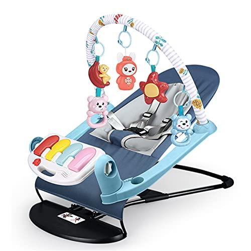 Swings Hamaca para bebé, con toldo, Vibraciones relajantes, Juguetes extraíbles y Pliegue Compacto para Almacenamiento o Viaje, fácil de Limpiar