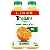 Tropicana Jus orange avec pulpe - Les 2 bouteilles de 1L