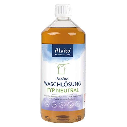 Alvito Öko Waschlösung 1,0 l (Typ Neutral) - Für Allergiker und Babys