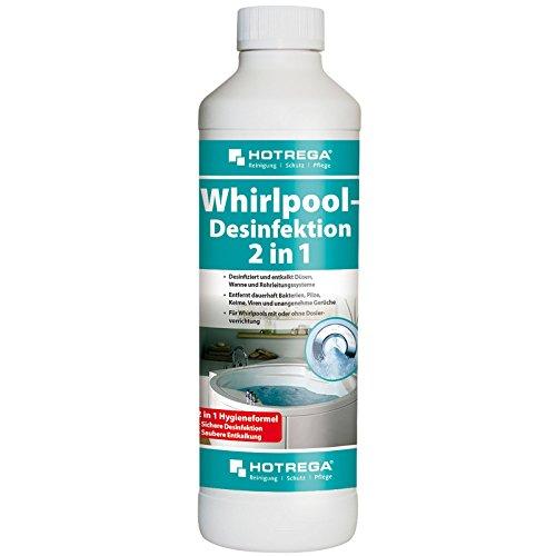 HOTREGA Whirlpool Desinfektion 2in1 Jacuzzi desinfizieren und entkalken Hot Tub Desinfektionsmittel 500ml