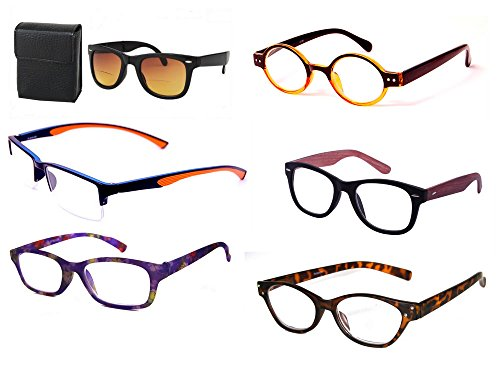 Reading Glasses 10 Pairs - Assorted Colors and Styles, 2.50 10 Pair Reading Glasses