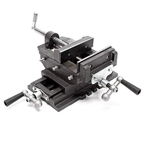 Maschinenschraubstock Schraubstock2-Achsen 150 mm Kreuztisch Frästisch Werkbank Arbeitstisch