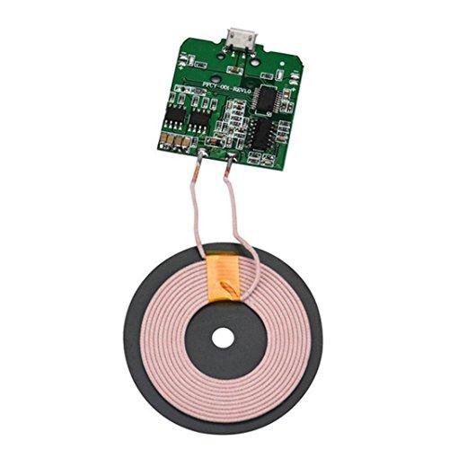 HKFV Qi Wireless Ladegerät PCBA Platine Spule Wireless Lade Micro USB Port DIY Micro USB Universal QI kabelloses Ladegerät PCBA-Modul Ladegerät und USB-Kabel Ladegerät und Datenkabel