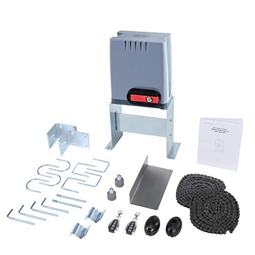 CO-Z Sliding Gate Opener with Wireless Remotes, Roller Gate Motor, Automatic Slide Gate Operator Kit for Fence Driveway, Auto Chain Gate Opener Hardware with Controllers (for 1800 lb Gate)