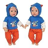 Erichman Muñeca Reborn lavable de 18 pulgadas, muñeca recién nacida realista, muñeca de moda normal para niños de 3 años y más con pantalones superiores traje y sombrero (One size,G)