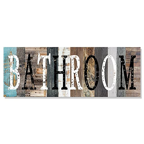 Solid Wood Bathroom Decorative Signs Tabletop Plaque Wall Hanger