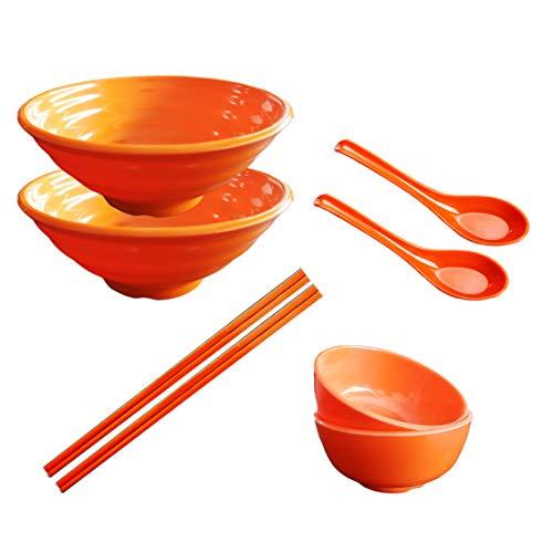 Tianher 2 juegos (8 piezas) Tazones Grandes para Sopa de Fideos de Ramen Japonés Cuencos de...