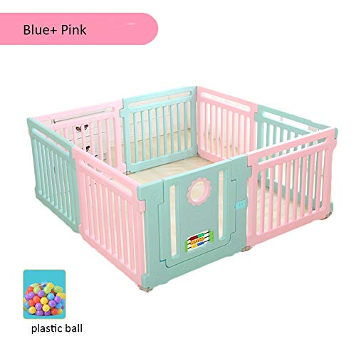 Best Bargain LIANGJUN-Baby Playpen Playpens Child Indoor Game Toddler Crawl Smooth Surface Ocean Ball – 66cm High (Color : A, Size : 158X158X66.5CM)