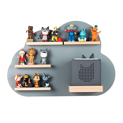 BOARTI Kinder Regal Wolke small in Grau - geeignet für die Toniebox und ca. 25 Tonies - zum Spielen und sammeln