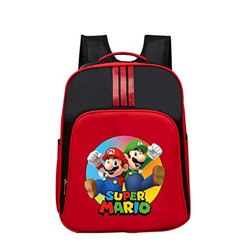 Super Mario Mochila Casual Mochila Exquisita Mochila Escolar Primaria para niñas, niños, Dibujos Animados, patrón, Bolsa de Deporte de Viaje Unisex (Color : Red03, Size : 32 X 14 X 40cm)