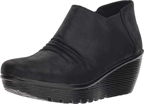 Skechers Damen Parallel Kurzschaft Stiefel, Schwarz (Black Blk), 41 EU