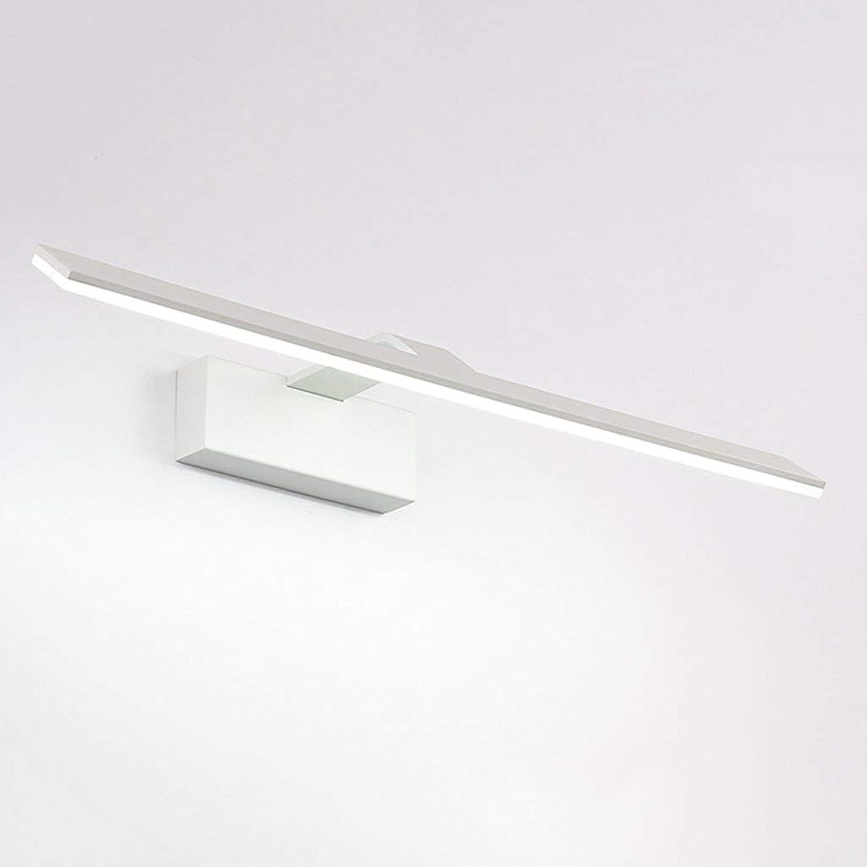 BAIJJ Spiegel Scheinwerfer Einfache Badezimmerspiegel Schrank Bad Kommode LED Spiegel Frontleuchte (Gre  12W Wei 52cm)