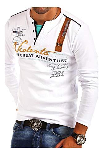 MT Styles 2in1 Longsleeve Adventure T-Shirt R-0663 [Weiß, 3XL]