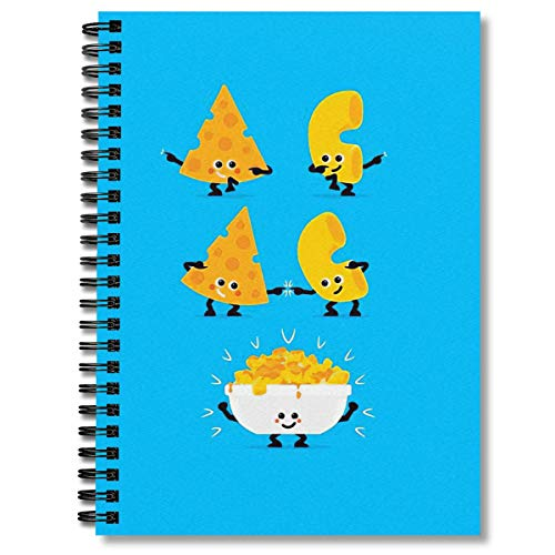 Spiral Notebook Character Fusion Mac N Cheese Composition Notebooks Journal With Premium Thick Blank Paper