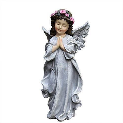 ZCQBCY Estatua de decoración de Figuras de jardín Hogar al Aire Libre Pequeño ángel Hada Escultura Adornos de Resina Patio Figuras de Escritorio
