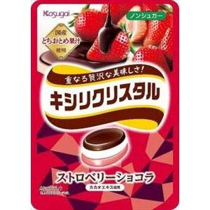 春日井製菓 キシリクリスタル ストロベリーショコラ 67g ×6袋
