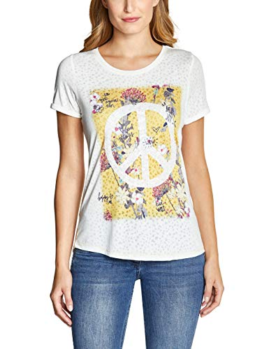 CECIL Damen 313746 T-Shirt, Mehrfarbig (Ceylon Yellow 31892), X-Large (Herstellergröße:XL)