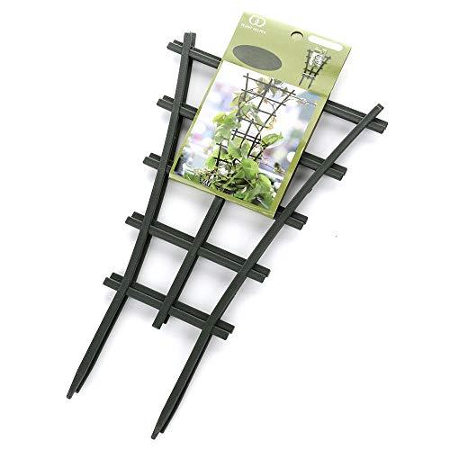GREENWISH 4pcs 9x3inch Mini Plant Trellis Plastic Garden Plant Support DIY Climbing Trellis Flower...