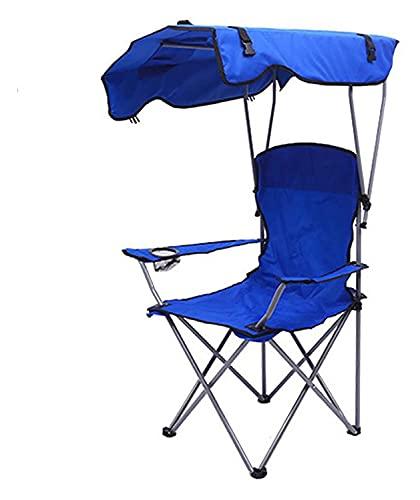GAOLE Silla plegable del campamento con el toldo de la sombra, la...