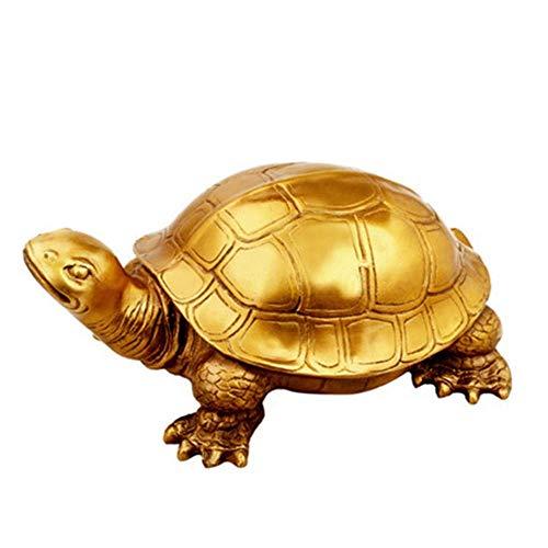 GYDXY - Escultura de decoración para el hogar para el jardín, figura de la estatua china, arte de tortuga, figura de animales, latón, artesanía, decoración para el hogar